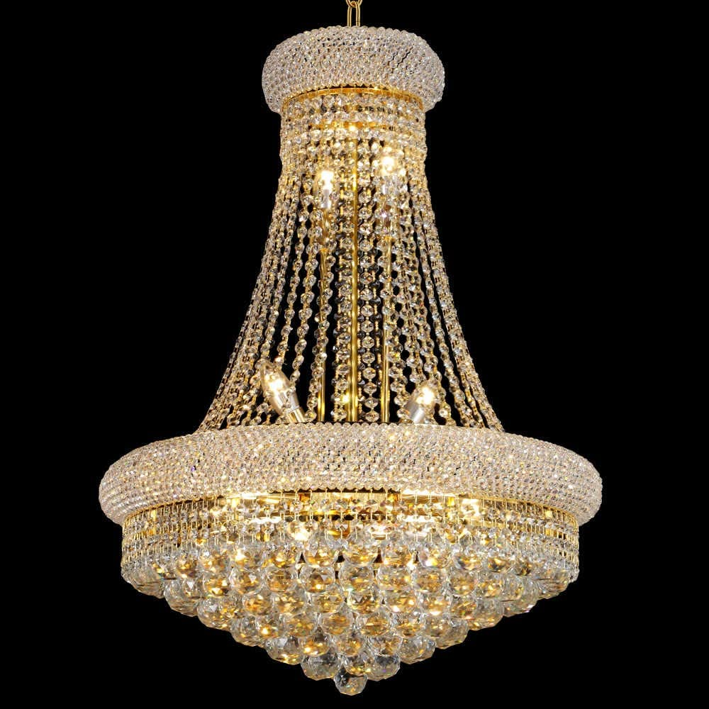 Beirio 13 Lights Golden Finish, How To Install A Crystal Chandelier