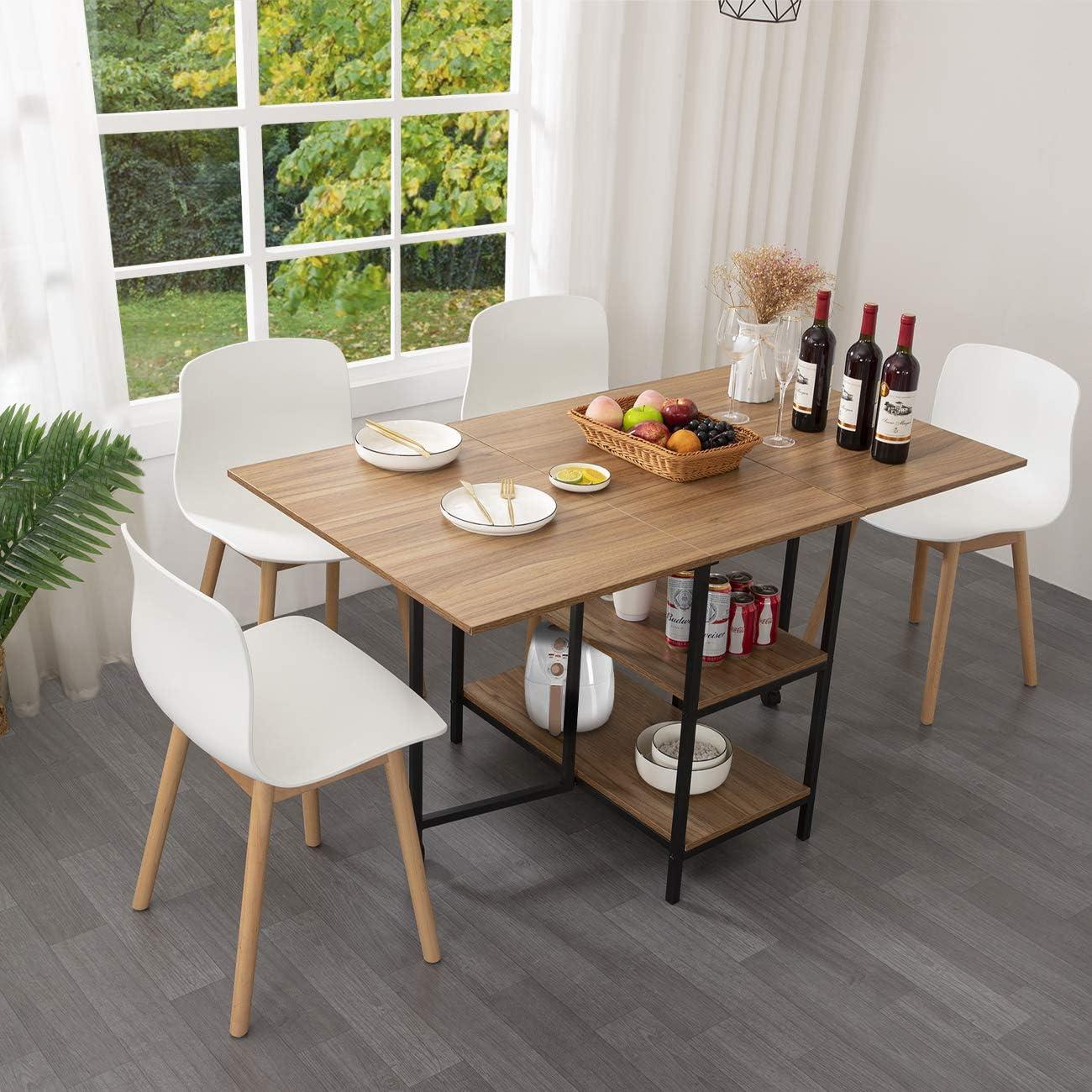 Kotpop Folding Dinner Table Drop, Folding Dining Room Table