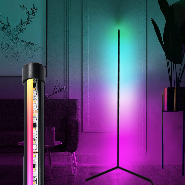 Led Corner Floor Lamp With Remote, Floor Lamps For Living Room Modern