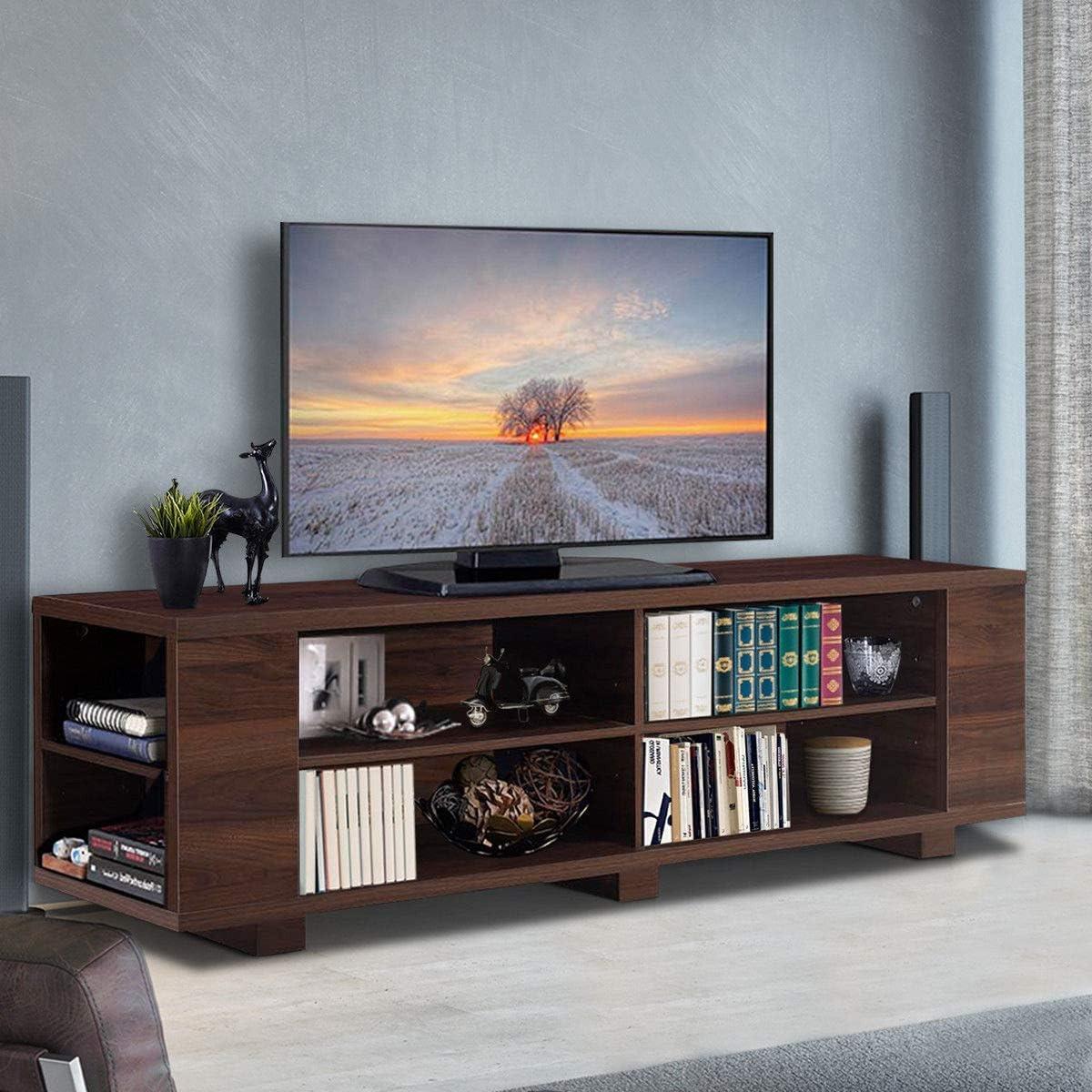 Tangkula Tv Stand Modern For Tvs Up, Living Room Entertainment Center