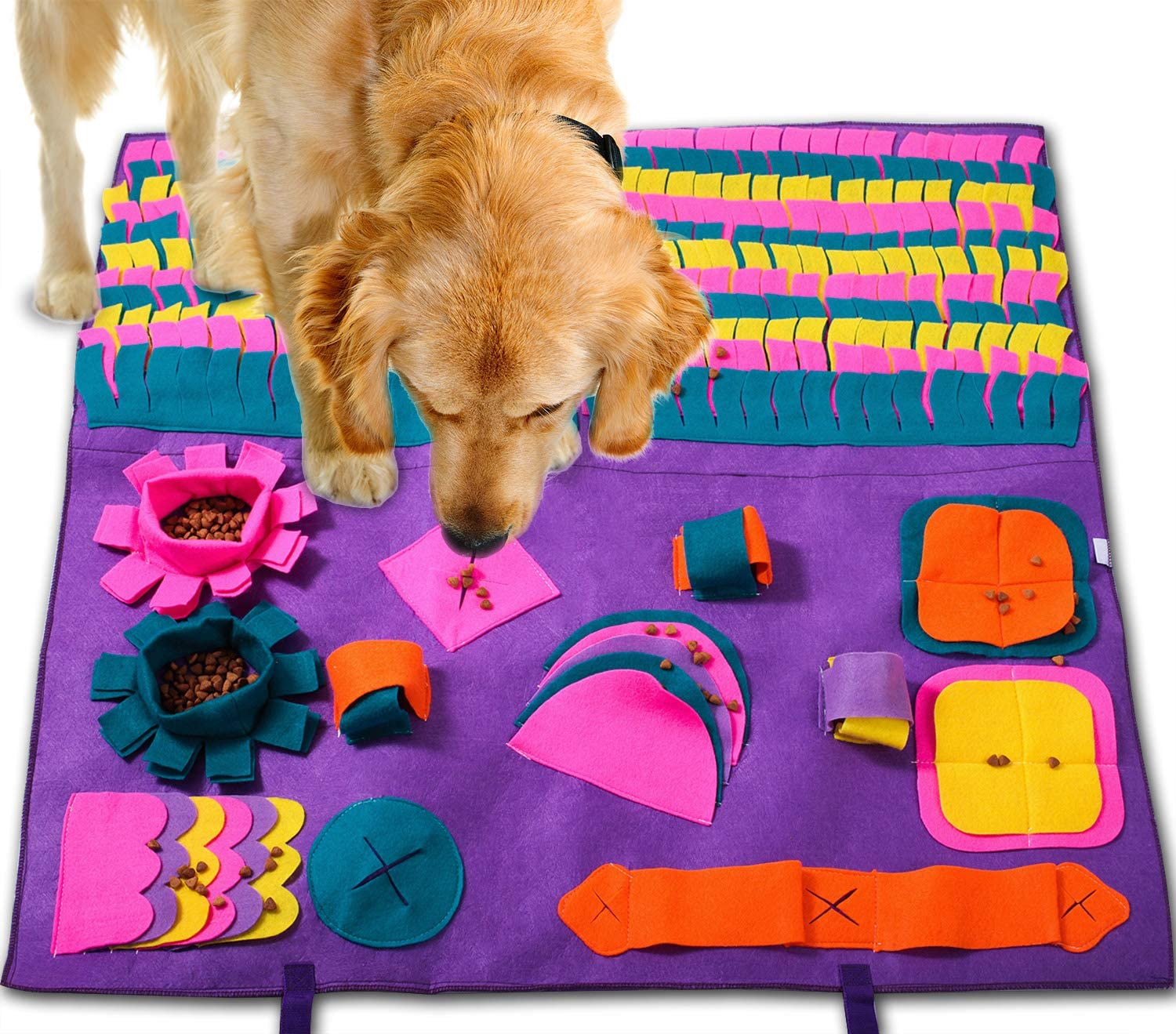 Buy PJDH Snuffle Mat for Dogs, Interactive Dog Toys Slow Feeding Mat Nose  Work Mat for Dogs Online in Vietnam. B07V69S1XH